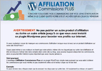 Un plugin wordpress pour ne plus perdre de vos commissions d'affiliation